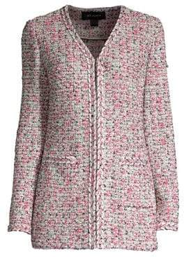St. John Modern Pointelle Knit Jacket