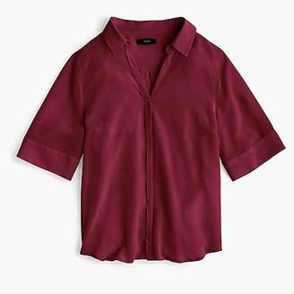 J.Crew Petite short-sleeve button-up shirt in silk