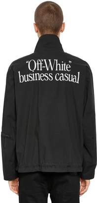 Off-White Business Casual Zip Lightweight Jacket