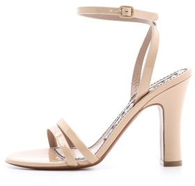 Rochas Ankle Strap Heeled Sandals