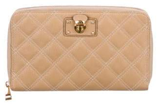 Marc Jacobs Quilted Travel Wallet Tan Quilted Travel Wallet