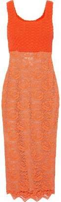 Moschino Crochet And Lace Midi Dress
