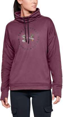 Under Armour Women's UA Terry Graphic Funnel Neck