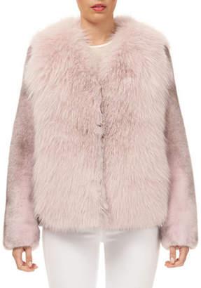 Gorski Fox-Fur Jacket w/ Mink-Fur Sleeves