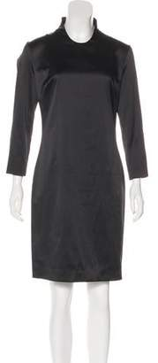Just Cavalli Satin Long Sleeve Dress