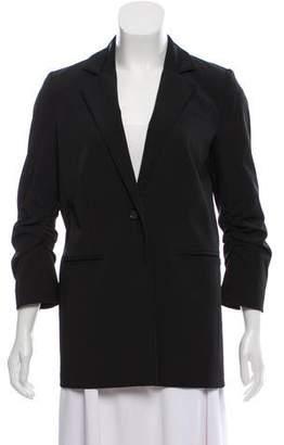 Elizabeth and James Notch-Lapel Short Sleeve Blazer