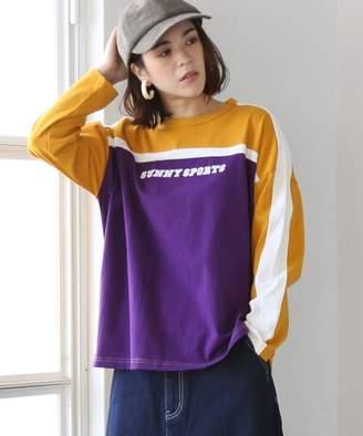 Coen (コーエン) - コーエン SUNNY SPORTS(サニースポーツ)別注バイカラープリントロングTシャツ(ロンT/プルオーバー)