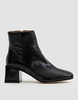 Loq Lazaro Crinkle Patent Ankle Boot