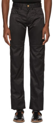 Wales Bonner Black Panelled Jeans