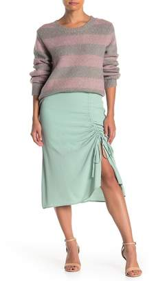 Emory Park Side Gather Midi Skirt