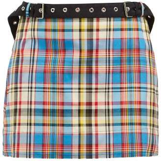 Marques Almeida Marques'almeida - Tartan Mini Skirt - Womens - Multi