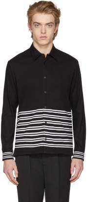 McQ Black Half Stripe Shirt