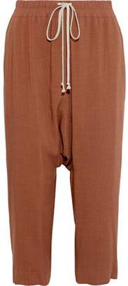 Rick Owens Cropped Wool And Silk-Blend Harem Pants