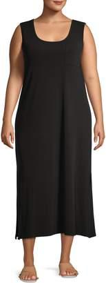 Calvin Klein Plus Scoopneck Maxi Dress