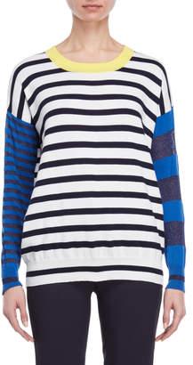 Atos Lombardini Stripe Tie-Back Sweater