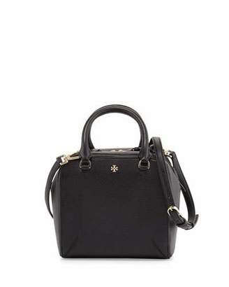 Tory Burch Robinson Pebbled Mini Satchel Bag, Black $450 thestylecure.com