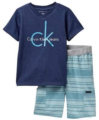 Calvin Klein Logo Tee & Short Set (Big Boys)