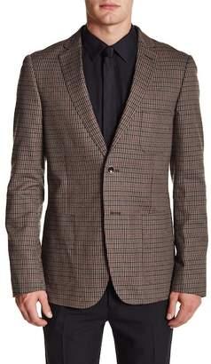 Paisley & Gray Brown Plaid Two Button Notch Lapel Slim Fit Blazer $99.97 thestylecure.com