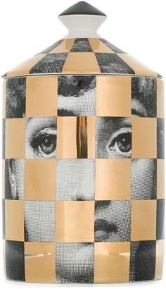 Fornasetti checked candle
