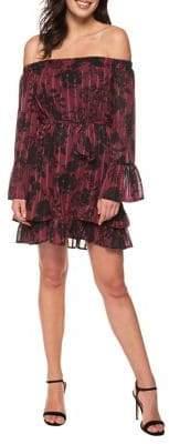 Dex Floral Off-the-Shoulder Bell Sleeve Dress