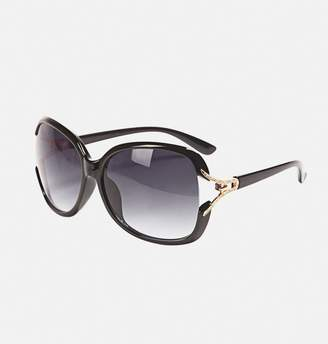 Avenue Oversized Textured Stem Sunglasses