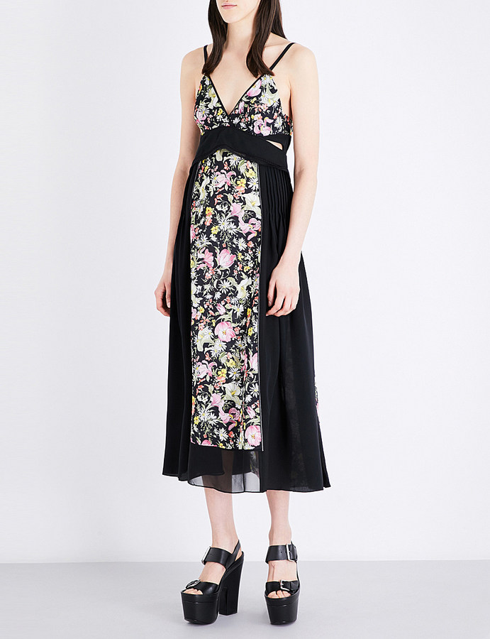 3.1 Phillip Lim 3.1 Phillip Lim Meadow Flower-print silk-crepe midi dress