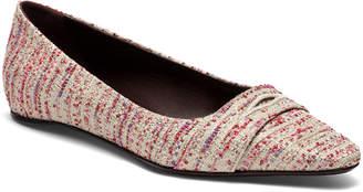 Bougeotte Rose Tweed Ballet Flats