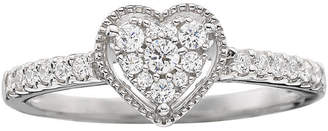 MODERN BRIDE 1/4 CT. T.W. Diamond Heart-Shaped Promise Ring
