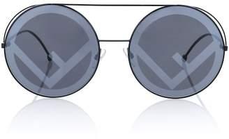 Fendi Run Away oversized round sunglasses