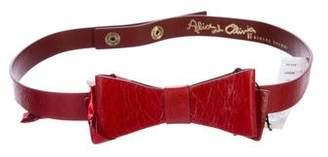Alice + Olivia Leather Bow Belt w/ Tags