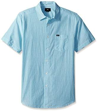 Obey Men's Towne Short Sleeve Button up Woven