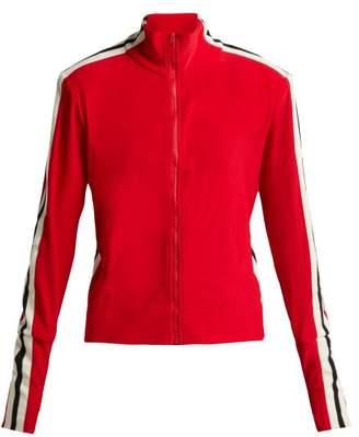 Norma Kamali Side Stripe Stretch Jersey Track Jacket - Womens - Red