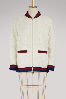 Moncler Lili embroidered bomber jacket