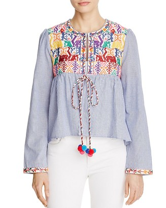 Velzera Embroidered Striped Jacket $58 thestylecure.com