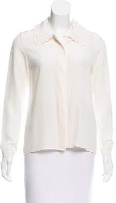 Vanessa Seward Silk Button-Up Top
