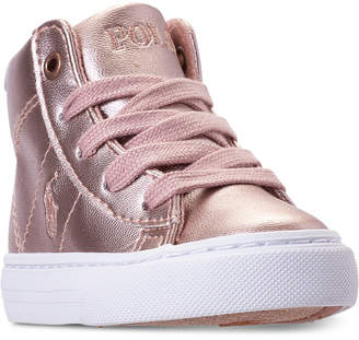 Polo Ralph Lauren Toddler Girls' Easten Mid Casual Sneakers from Finish Line