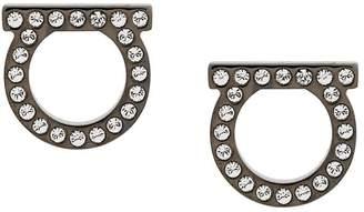 Salvatore Ferragamo logo crystal studded earrings