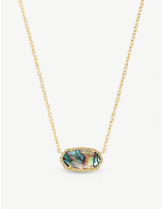 Kendra Scott 14ct gold-plated abalone shell necklace