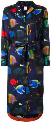 Paul Smith fish print shirt dress