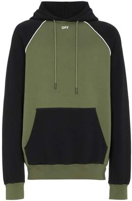 Off-White x Browns black and green arrow print hoodie