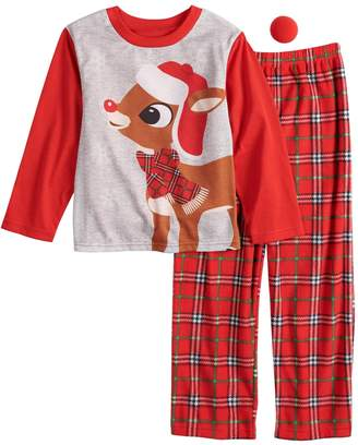 4dee0a823a Boys 4-12 Jammies For Your Families Rudolph the Red-Nosed Reindeer Top