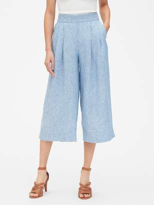 Gap High Rise Wide-Leg Crop Pants in Pure Linen