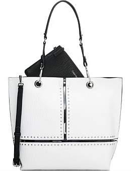 Calvin Klein Sonoma North South Reversible Tote White Stud