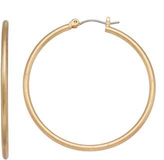 Simply Vera Vera Wang Matte Nickel Free Hoop Earrings
