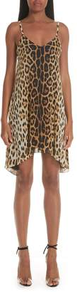 Moschino Leopard Print Silk Slipdress