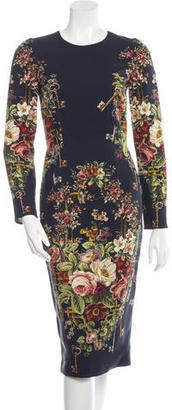 Dolce & Gabbana Floral Long Sleeve Dress w/ Tags $725 thestylecure.com
