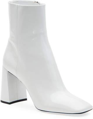 Prada Patent Leather Block-Heel Booties