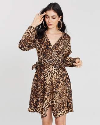 Missguided Wrap-Side Tea Dress