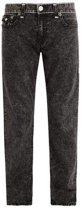 True Religion - Contrast Stitch Mid Rise Straight Leg Jeans - Mens - Multi