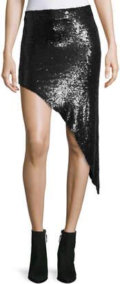 IRO Notrea Sequined Asymmetric Skirt